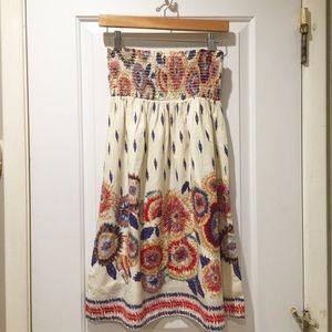 Forever 21 Tube Top Sleeveless Ikat Floral Dress